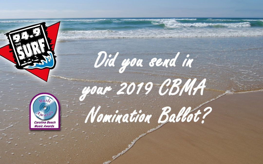 Did you submit your 2019 CBMA Nomination Form?