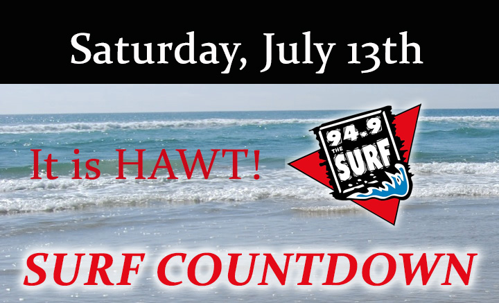 Surf Countdown – July 13th Chart