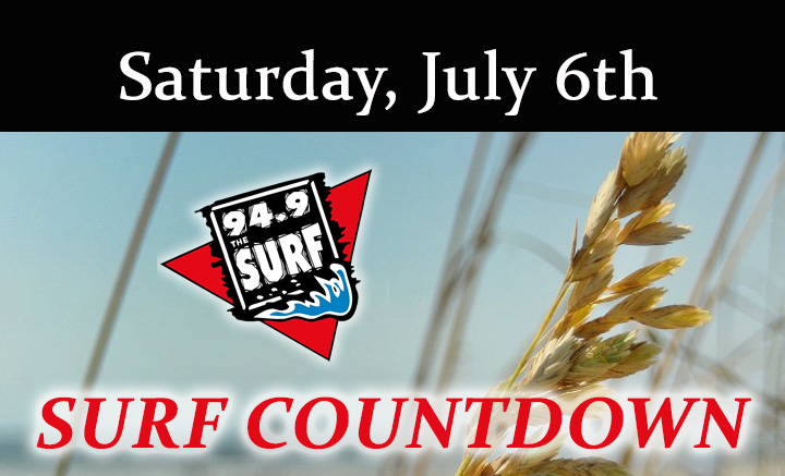 Surf Countdown – July 6th Chart