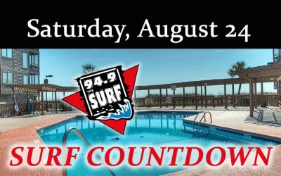 Surf Countdown – August 24th Chart