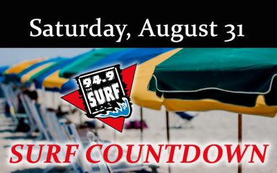 Surf Countdown – August 31st Chart