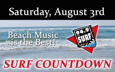 Surf Countdown – August 3rd Chart