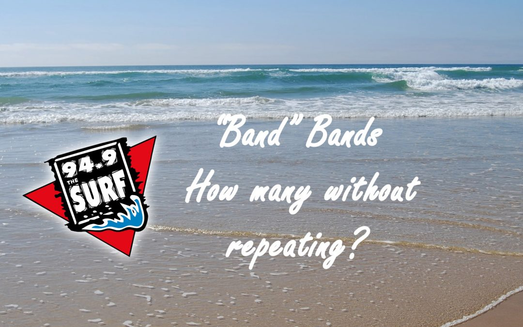 """How many """"band"""" bands are there in Beach Music?"""