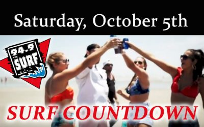 Surf Countdown – October 5th Chart