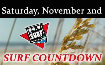 Surf Countdown – November 2nd Chart