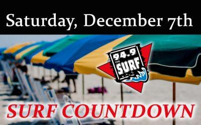 Surf Countdown – December 7th Chart
