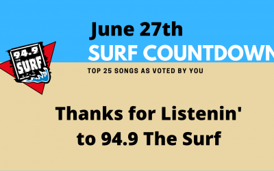Surf Countdown – June 27th, 2020