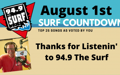 Surf Countdown – August 1st Chart