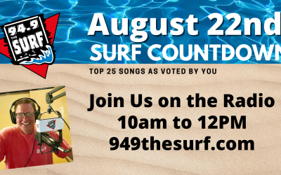 Surf Countdown – August 22nd, 2020 Chart