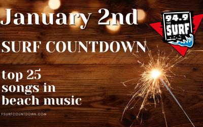 Surf Countdown – January 2nd Chart