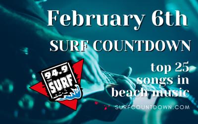 Surf Countdown – February 6th Chart