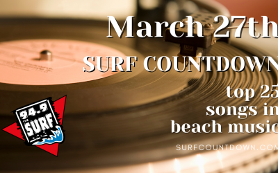 Surf Countdown – March 27th Chart