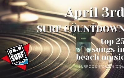 Surf Countdown – April 3rd Chart