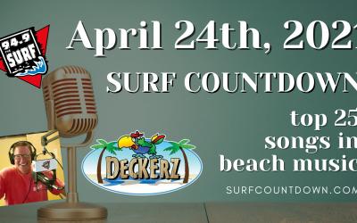 Surf Countdown – April 24th Chart