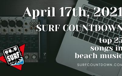 Surf Countdown – April 17th Chart