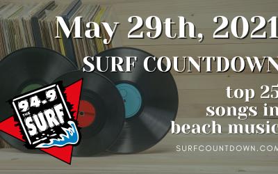 Surf Countdown – May 29th Chart