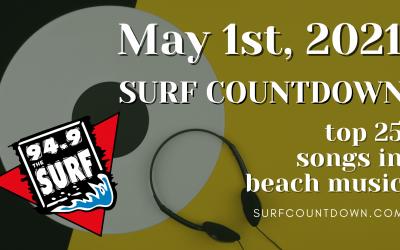 Surf Countdown – May 1st Chart