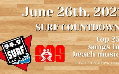 Surf Countdown – June 26th Chart