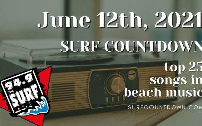 Surf Countdown – June 12th Chart