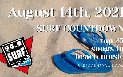 Surf Countdown – August 14th Chart