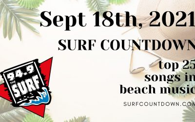 Surf Countdown – September 18th Chart