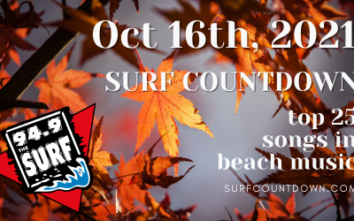 Surf Countdown – October 16th Chart